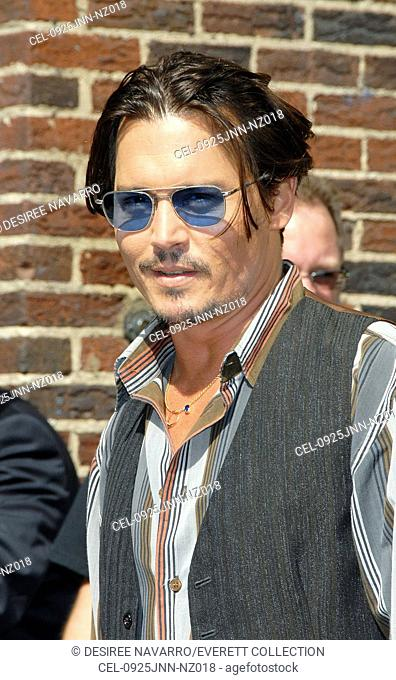 Johnny Depp at talk show appearance for The Late Show with David Letterman, Ed Sullivan Theater, New York, NY June 25, 2009