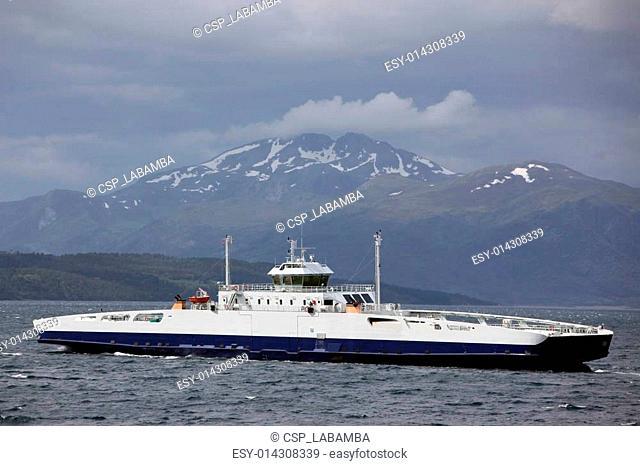 Boat in Fannefjord in Norway
