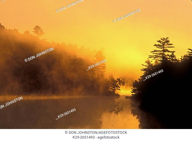 Murdock River at dawn, Greater Sudbury/Alban, Ontario, Canada