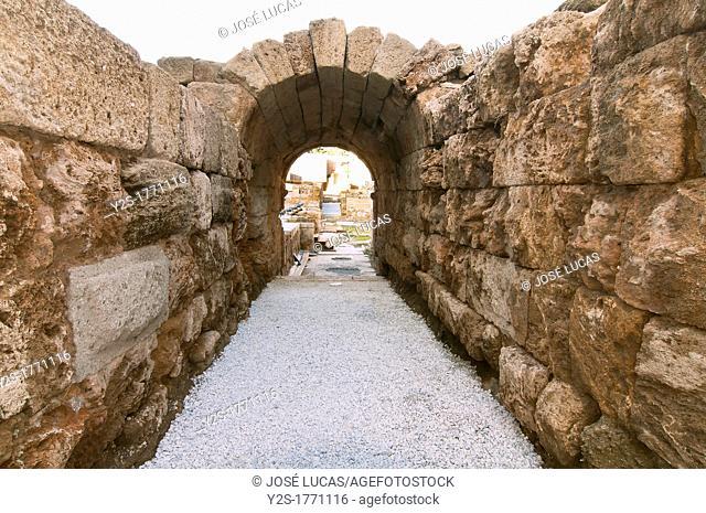Roman theater, Vomitory, Malaga, Spain