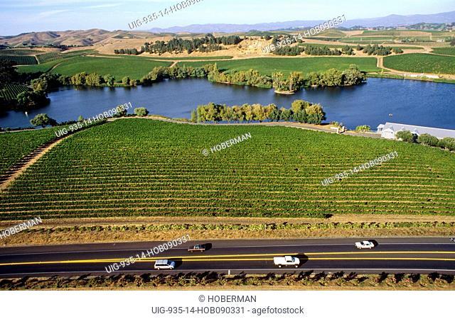 Aerial view Napa Valley, California