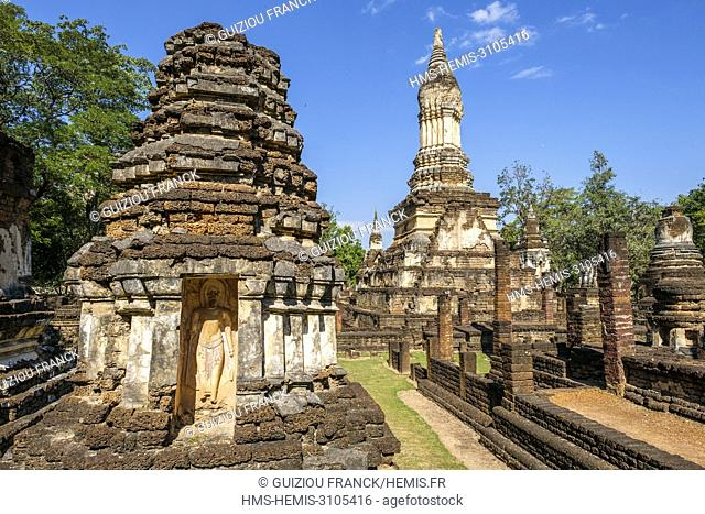 Thailand, Sukhothai province, Si Satchanalai district, Si Satchanalai Historical Park, a UNESCO World Heritage site, Wat Chedi Chet Thaeo
