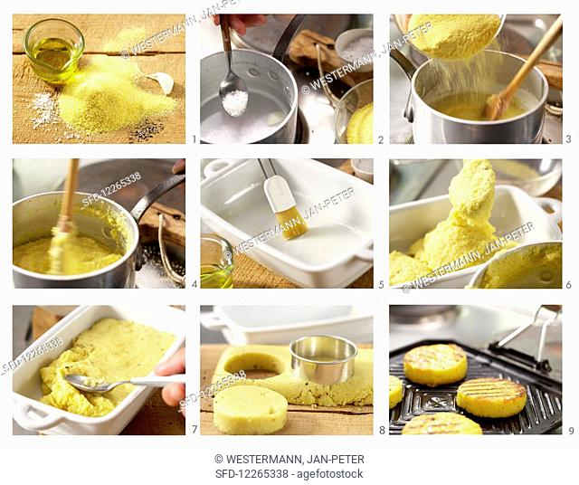 How to make grilled polenta and tomatoes