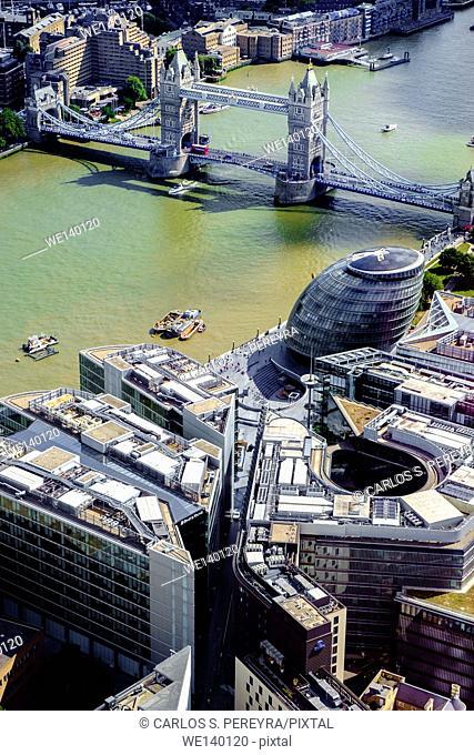 Aerial view of London, England, United Kingdom