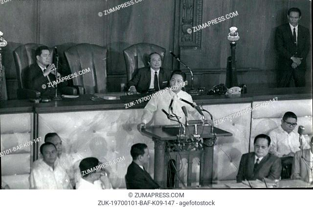 Jan. 01, 1970 - Manila, Philippines - President Ferdinand E. Marcos delivers State of the Nation Address to Congress, Jan. 26, 1970