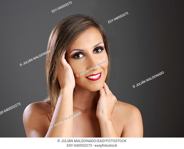 Young woman showing her beauty