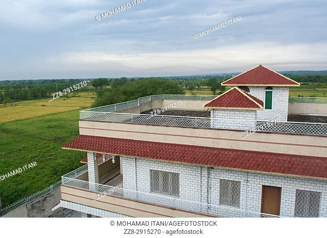 House exteriors Kharian village Pakistan