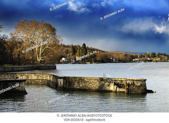 Leman Lake. Old town, historic center. Geneva. Switzerland, Europe