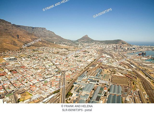 Cape town cityscape and table mountain