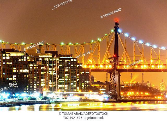 Roosevelt Island, East River, Queensboro Bridge, Manhattan, New York City, USA