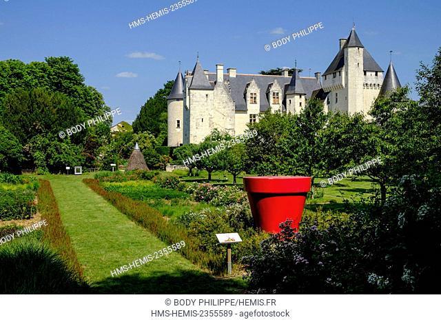 France, Touraine, Indre et Loire, Lemere, castle of Rivau 15 th century, on Remarkable Garden list