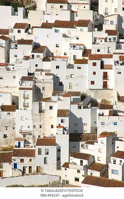 Casares is a tipical beautiful white village near costa del Sol.It seem like a treasure Shinning under the strong Andalucian sun