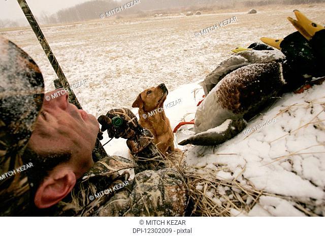 Waterfowl Hunting in winter