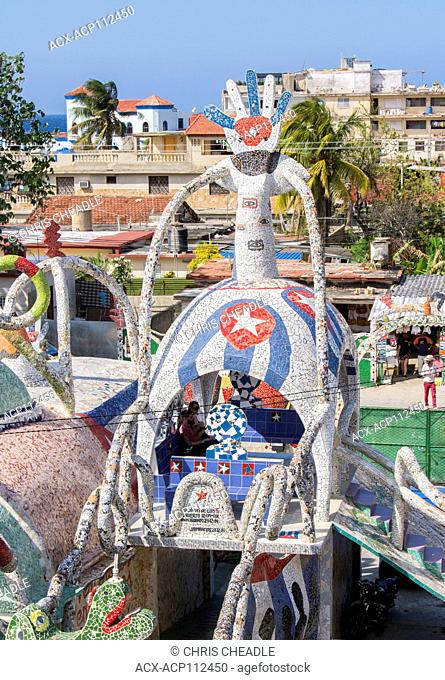Fusterlandia, Jaimanitas, Havana, Cuba. A creation of Jose Fuster, a cuban artist, painter and sculpture who's project is to redecorate his house and his...