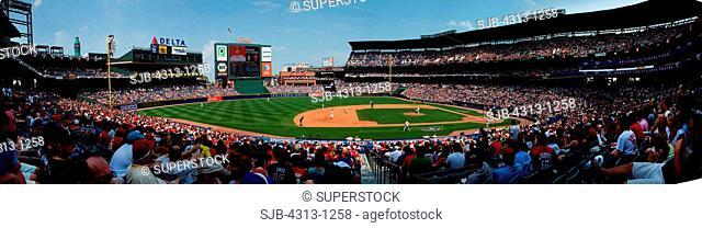 Panorama of Turner Field, Atlanta, Georgia. Home of baseball's Atlanta Braves