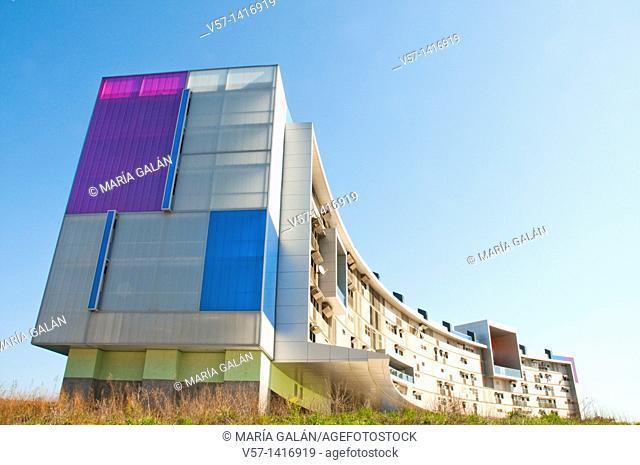 Hemiciclo Solar building. Móstoles, Madrid province, Spain