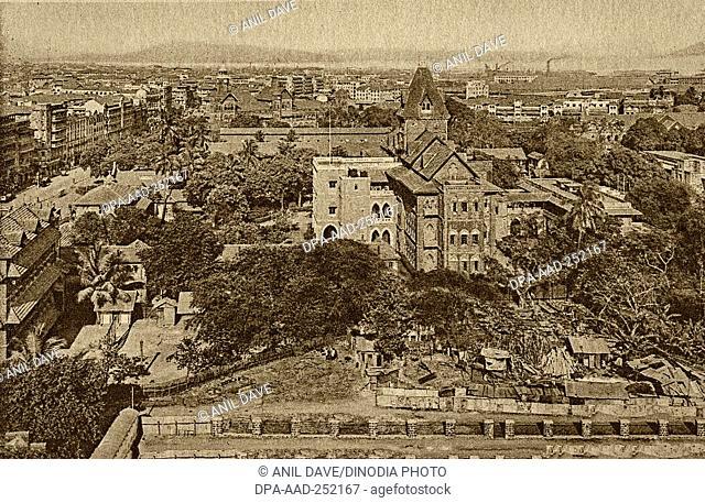 Vintage photo of gokuldas tejpal hospital, mumbai, maharashtra, india, asia