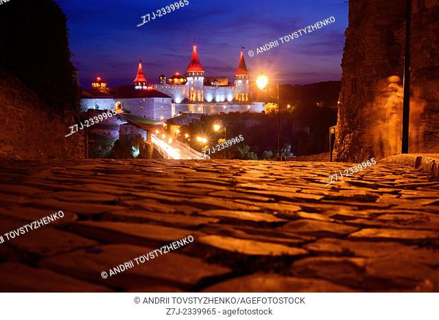 view of the old castle in Kamenetz-Podolsk.Ukraine