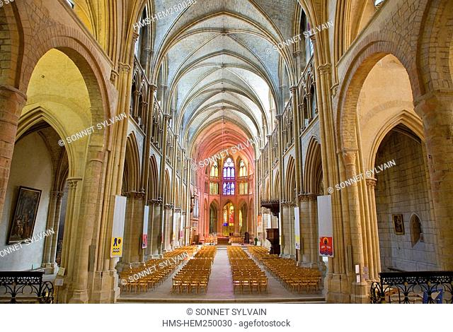 France, Nievre, Nevers, Saint Cyr Sainte Julitte Cathedral