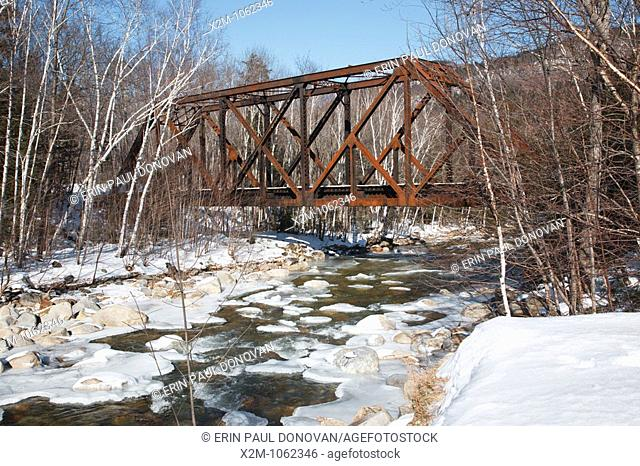 Crawford Notch State Park - Forth Iron Railroad Bridge which is located along the Maine Central Railroad in the White Mountains, New Hampshire USA