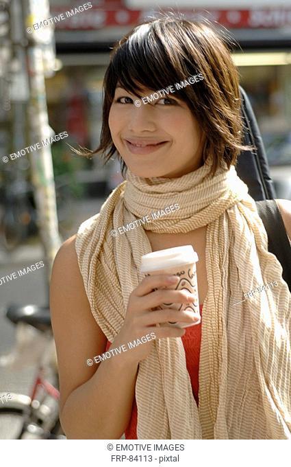 Girl with Cappucchino mug