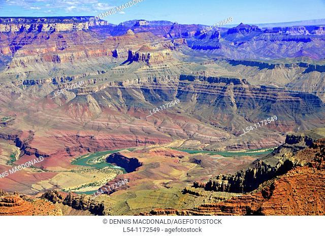 Winding Colorado River South Rim Grand Canyon National Park Arizona