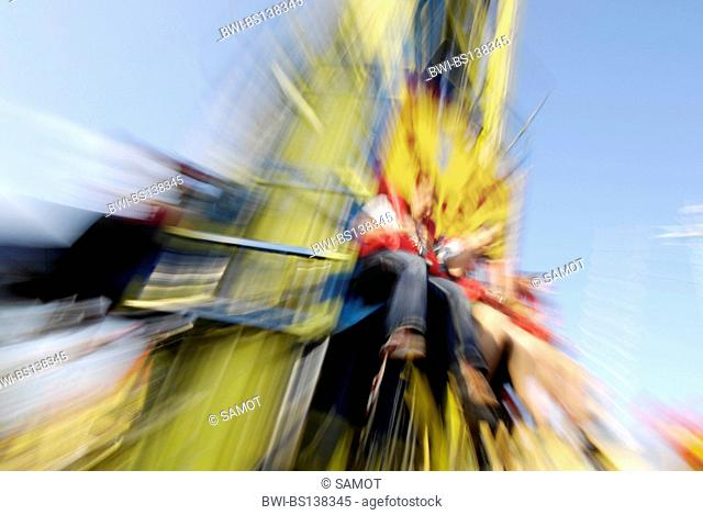 people at the amusement park Wiener Prater, Austria, Vienna