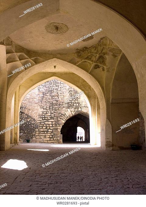Inside of Golconda Fort , Hyderabad , Andhra Pradesh , India