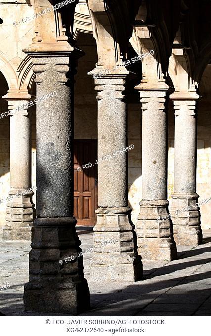 Patio de las Escuelas Menores. Universidad de Salamanca. Castilla-León. España. Europa