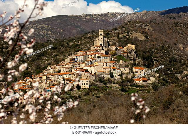 Medieval town of Eus, member of the association Most Beautiful Villages in France