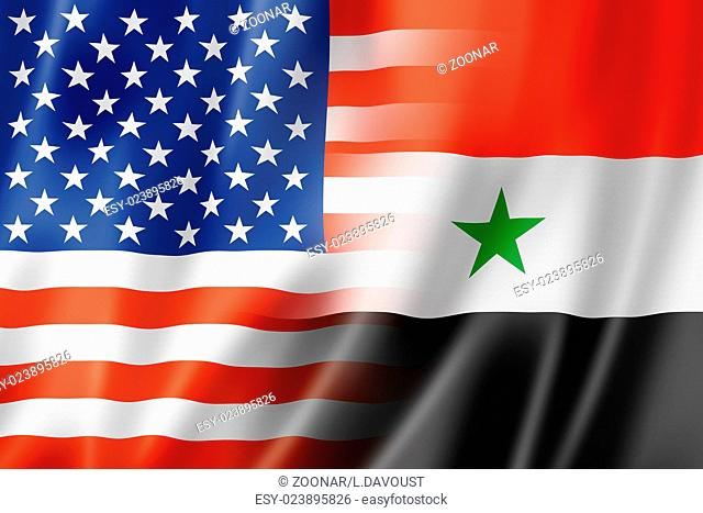 USA and Syria flag
