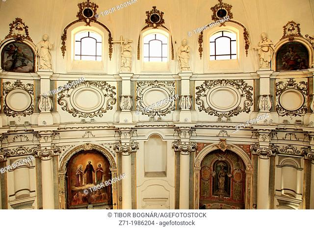 Italy, Sicily, Noto, Santa Chiara Church, interior,