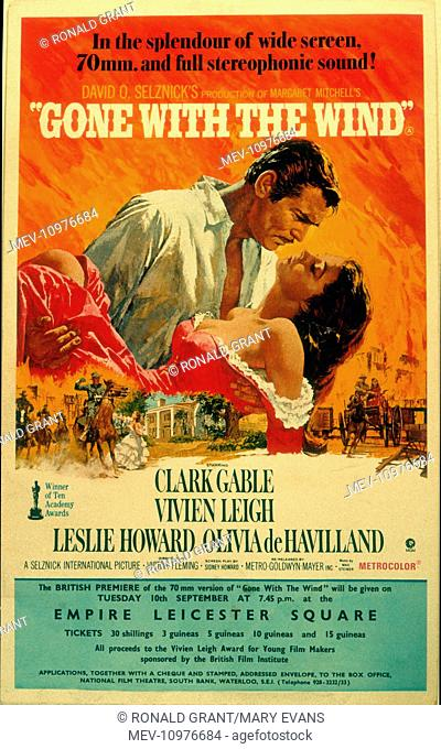 GONE WITH THE WIND [US 1939] CLARK GABLE, VIVIEN LEIGH