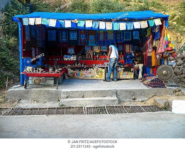 streetshop at dharamsala, india