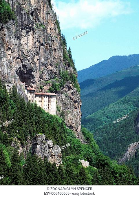 The Sumela Monastery at Mela mountain near Trabzon