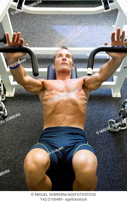 Man Gym Bench Press
