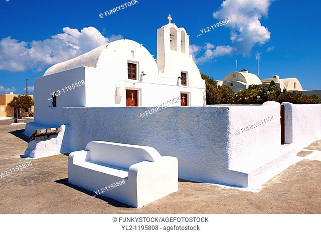 oia Ia Santorini orthodox churches - Greek Cyclades islands
