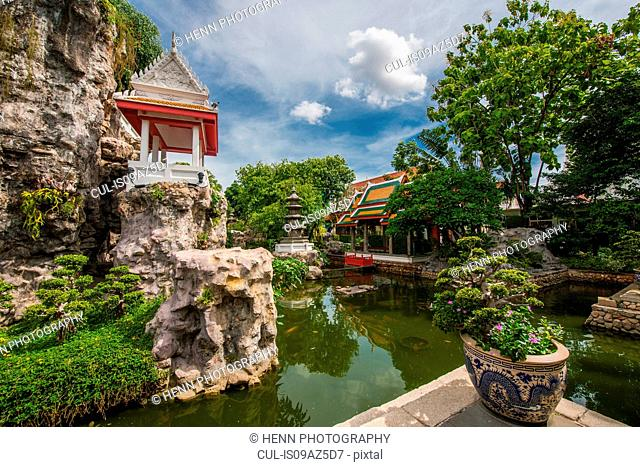 Khao Mo (Miniature Hill), part of the Wat Prayurawongsawat Temple, Bangkok, Thailand
