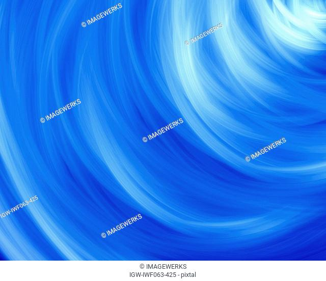 Abstract curve pattern on blue background Digital Composite