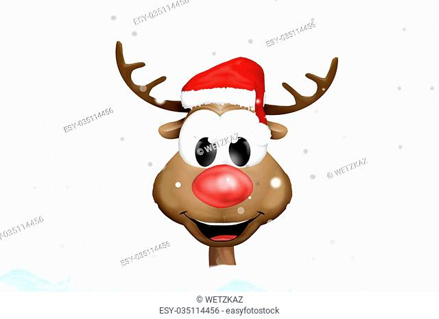 Christmas Reindeer Cartoon