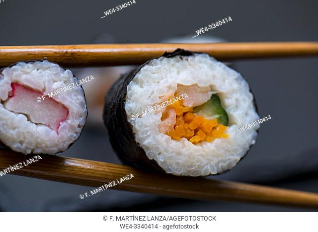 Oriental food Sushi,
