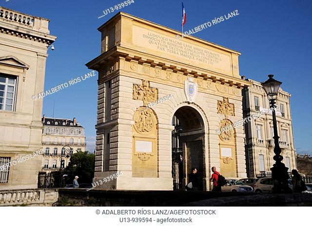 Porte du Peyrou triumphal arch, Montpellier, France
