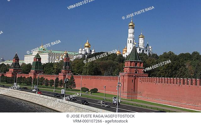 Rusia , Moscow City, The Kremlin, South Walls , Moscow river, Ivan the Great Belfry