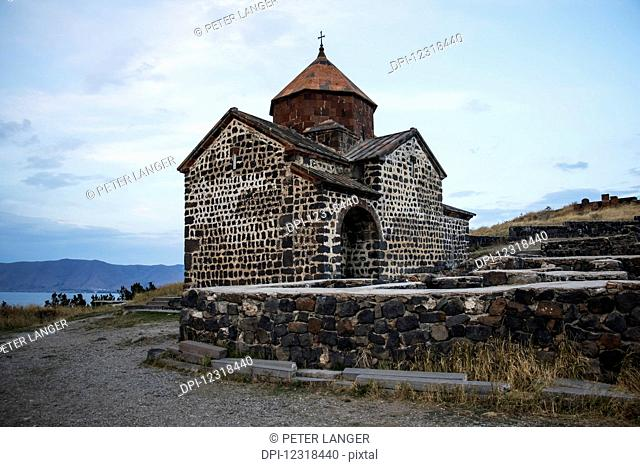 Surp Astvatsatsin (Holy Mother of God Church) of the Sevanavank (Sevank Monastery) overlooking Lake Sevan; Gegharkunik Province, Armenia