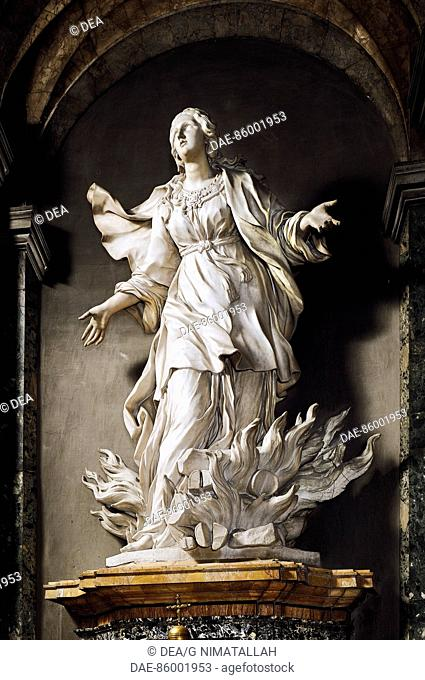 St Agnes, marble sculpture by Ercole Ferrata (1610-1686), Church of St Agnes in Agone, Rome. Italy, 17th century