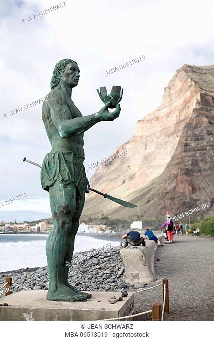Statue of Hautacuperche, Valle Gran Rey, La Gomera, Spain