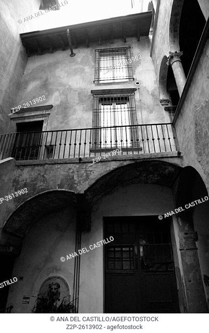 Bergamo old city Italy