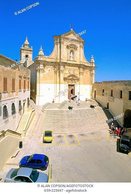 Victoria Cathedral. Gozo Island. Malta