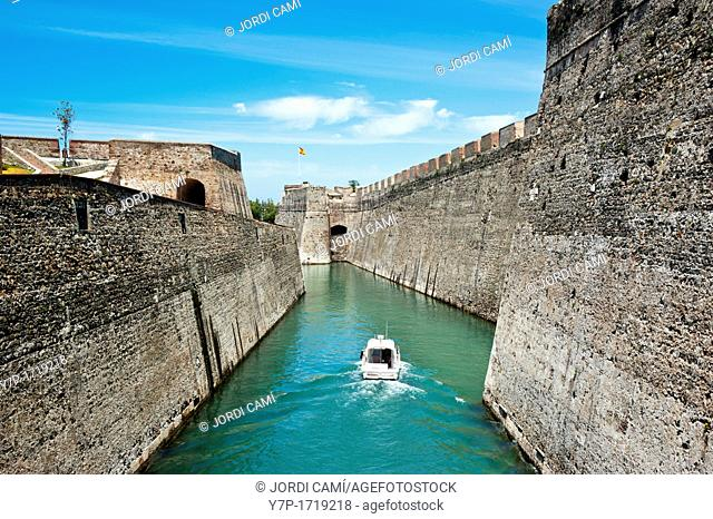 Royal Walls moat in the isthmus of Spanish enclave of Ceuta  Spain