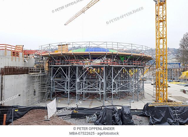Big construction site Stuttgart 21